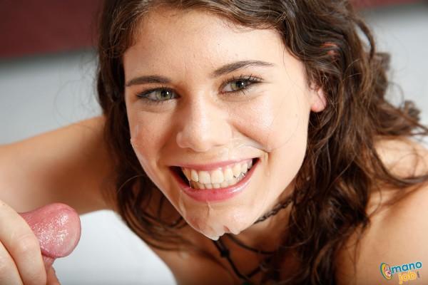 Cute brunette Lexy Lotus cum facial